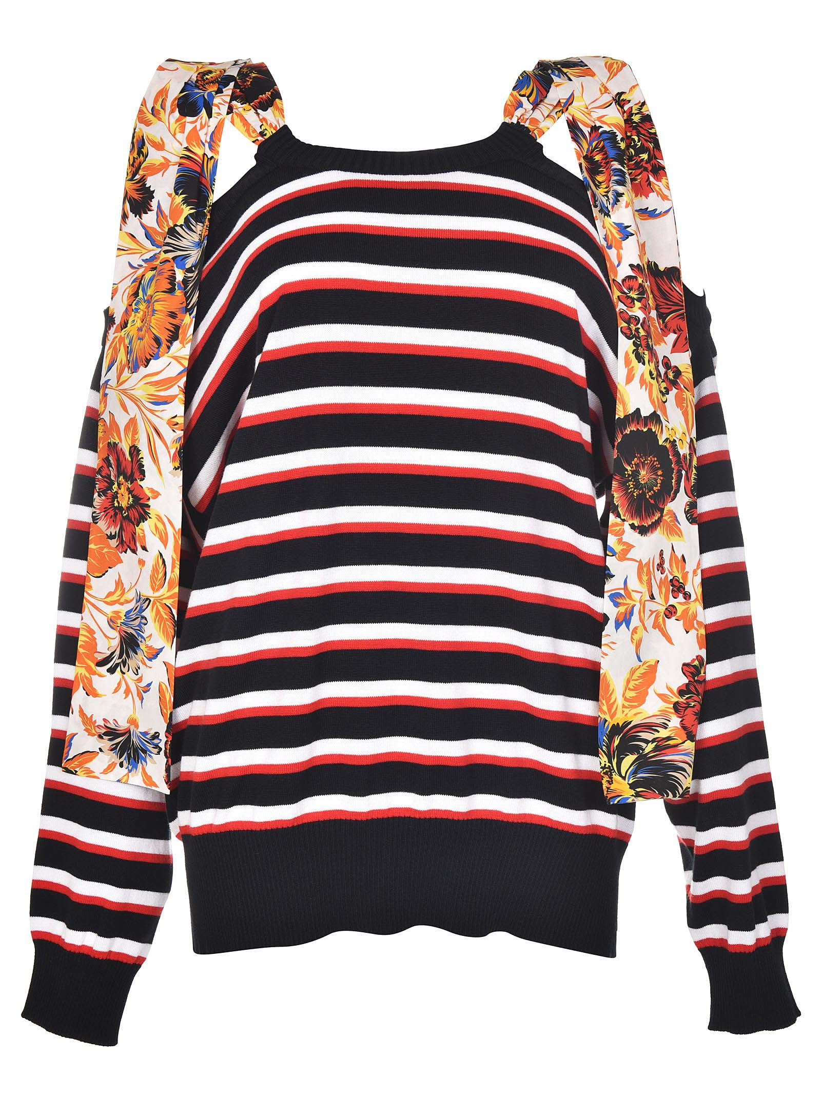 Msgm Floral Striped Jumper