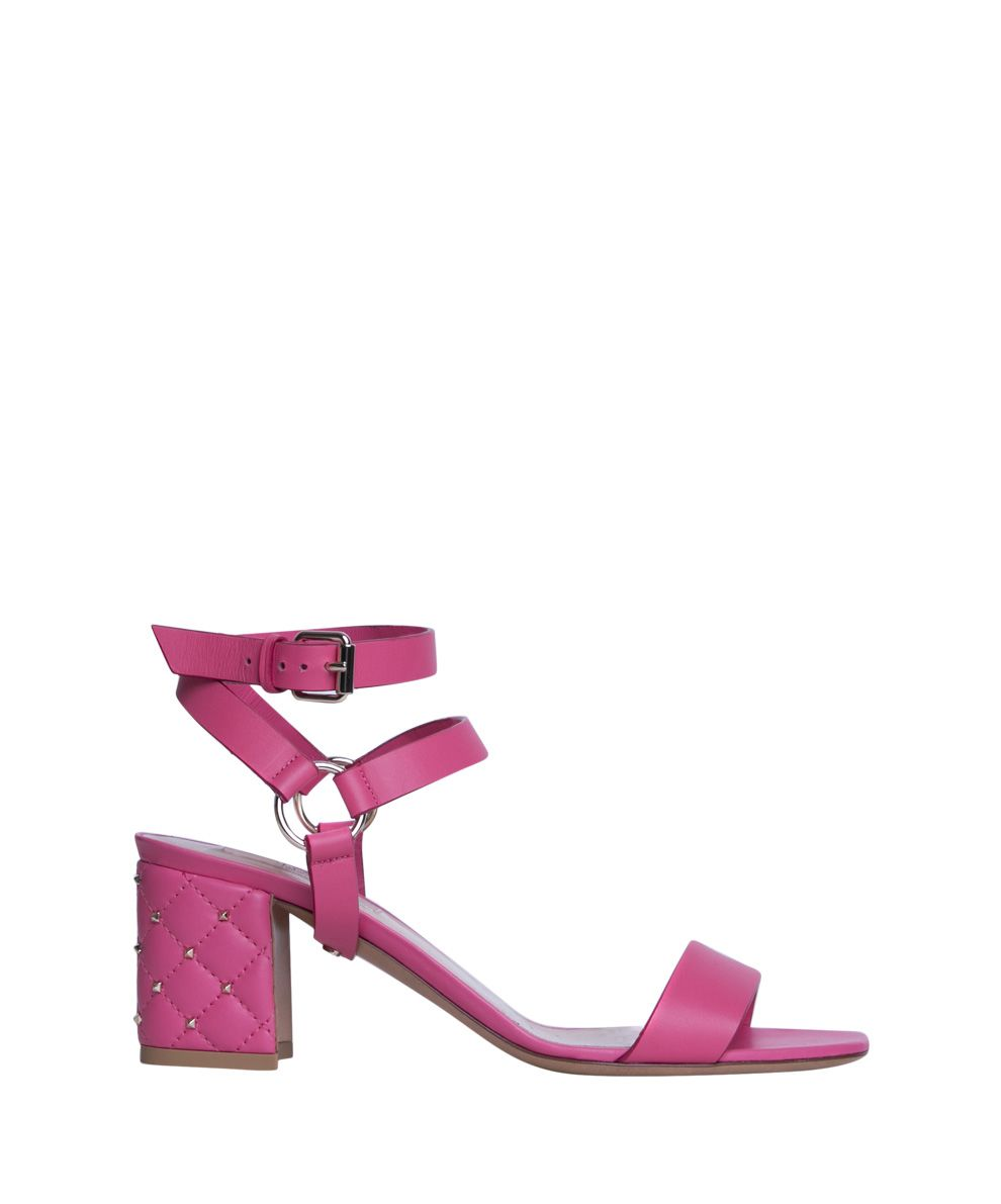 SPIKE LEATHER SANDALS
