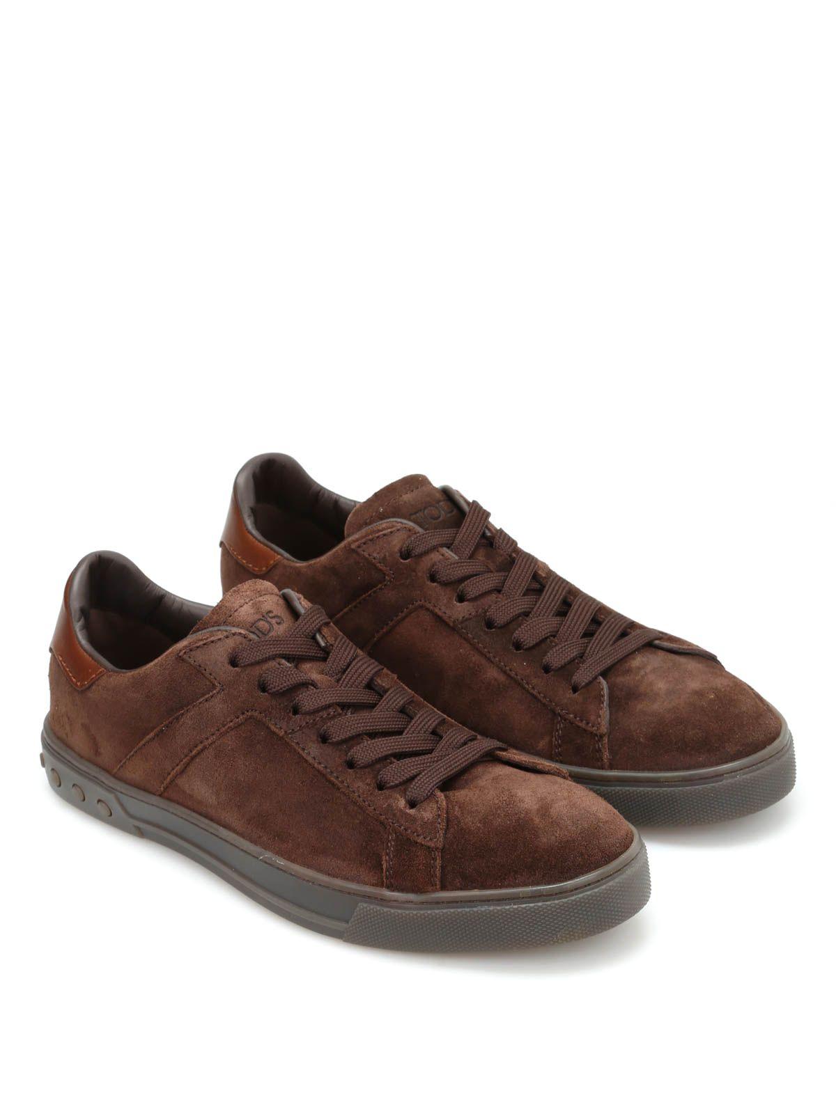 Tods Low Top Suede Sneakers