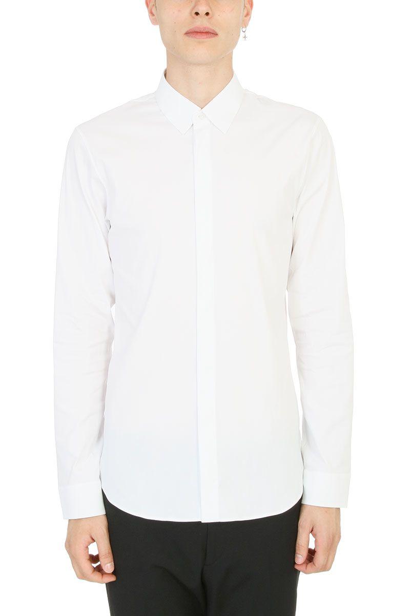 Jil sander jil sander white cotton shirt white men 39 s for Jil sander mens shirt