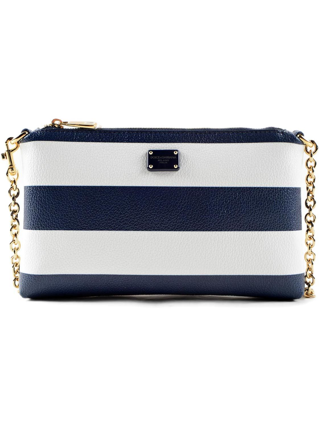 Dolce & Gabbana Striped Print Mini Shoulder Bag