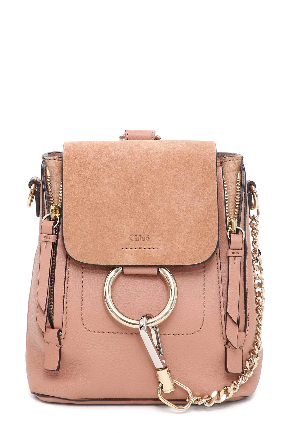chlo chlo chlo 39 faye 39 mini backpack rosa women 39 s backpacks italist. Black Bedroom Furniture Sets. Home Design Ideas
