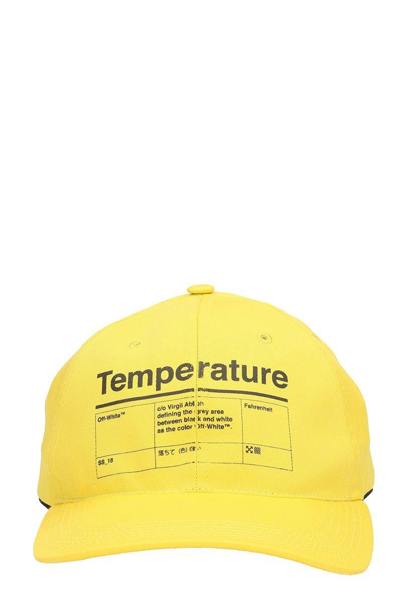 Off-White Yellow Cotton Cap