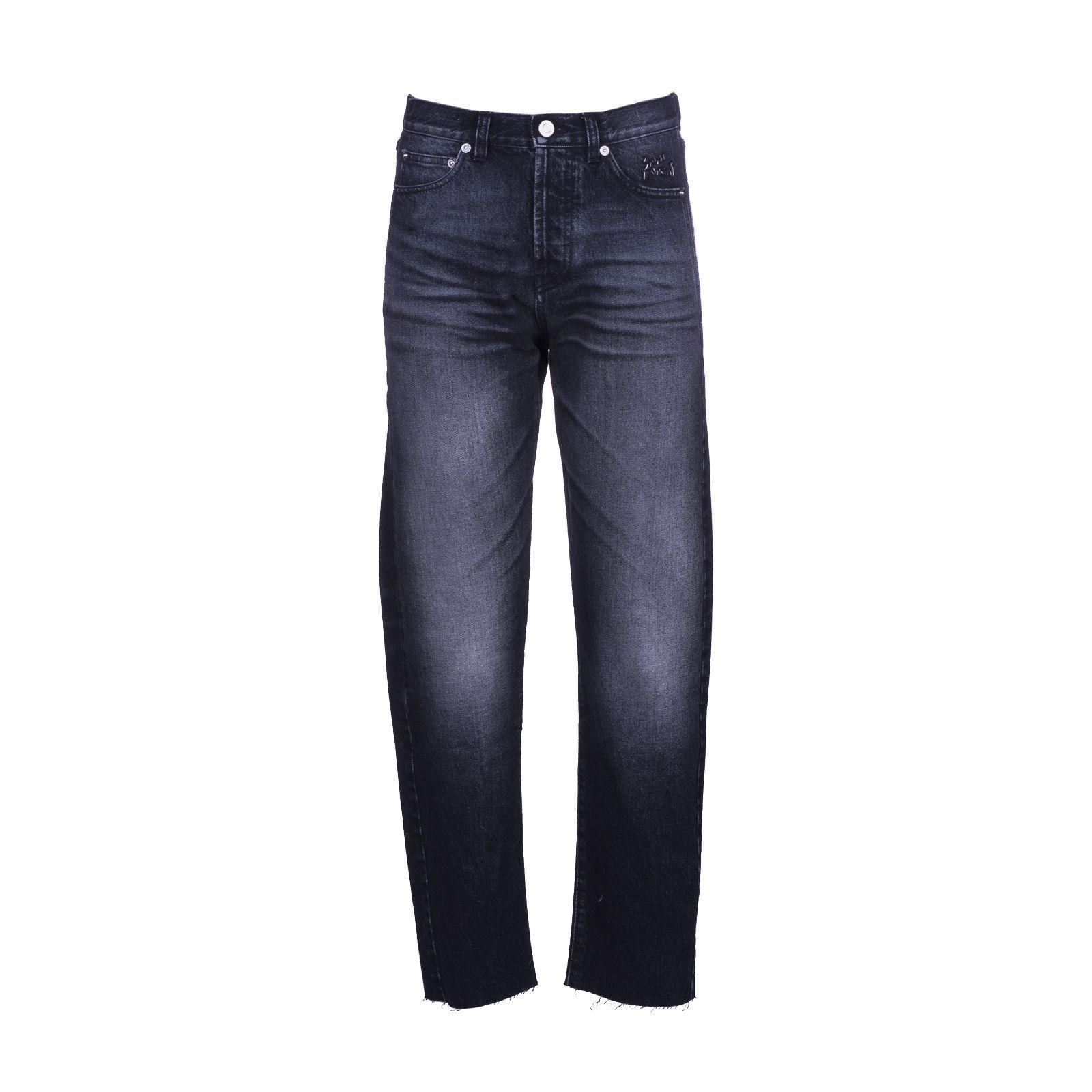 Saint Laurent Paris Washed Black Jeans