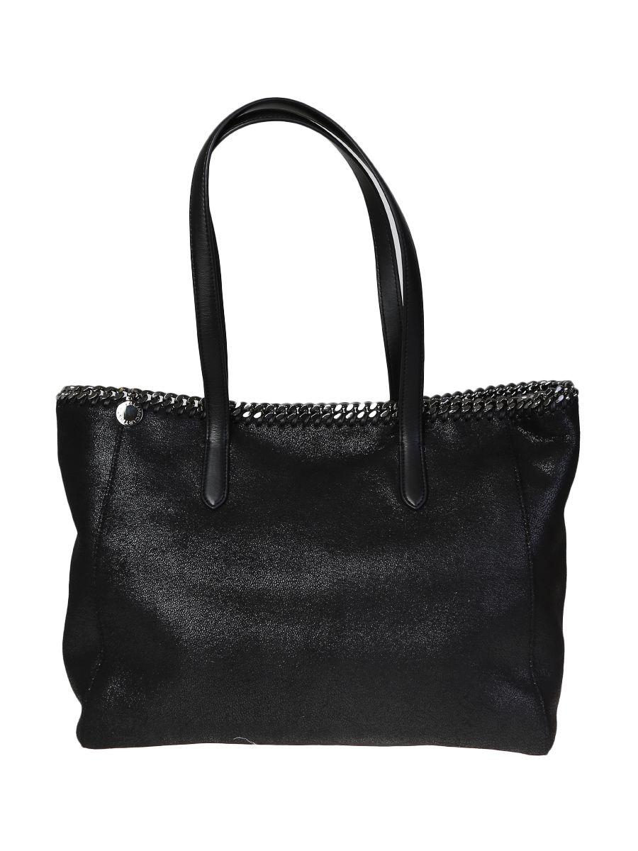 Black Ecoleather Falabella Small Shaggy Deer Bag