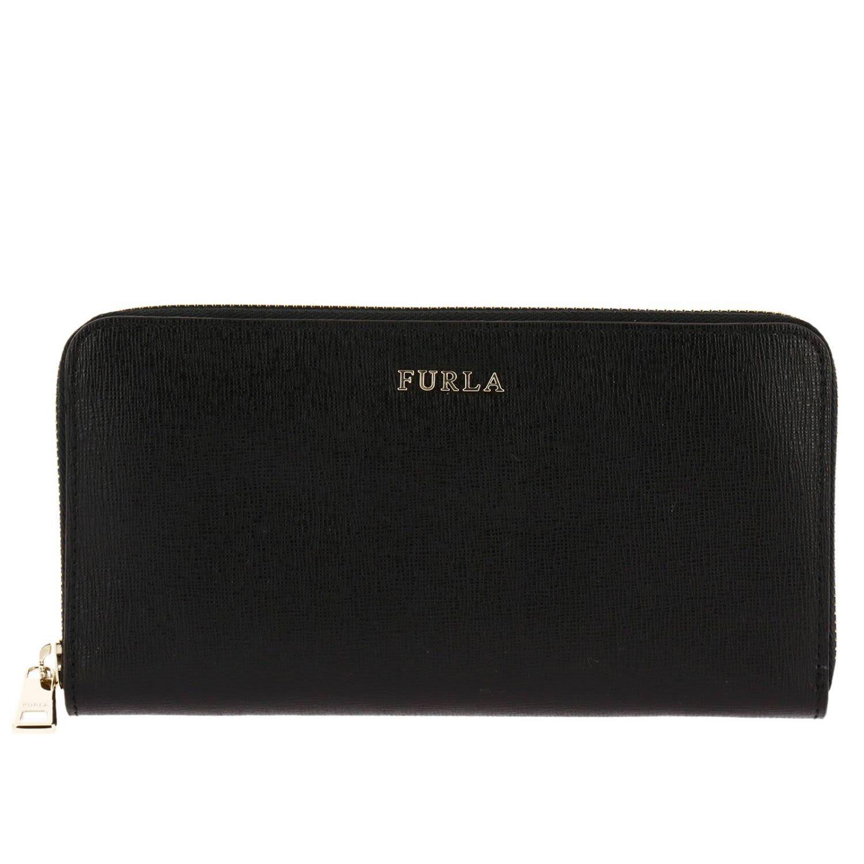 Women'S Wallet Genuine Leather Coin Case Holder Purse Card Bifold Babylon in Black