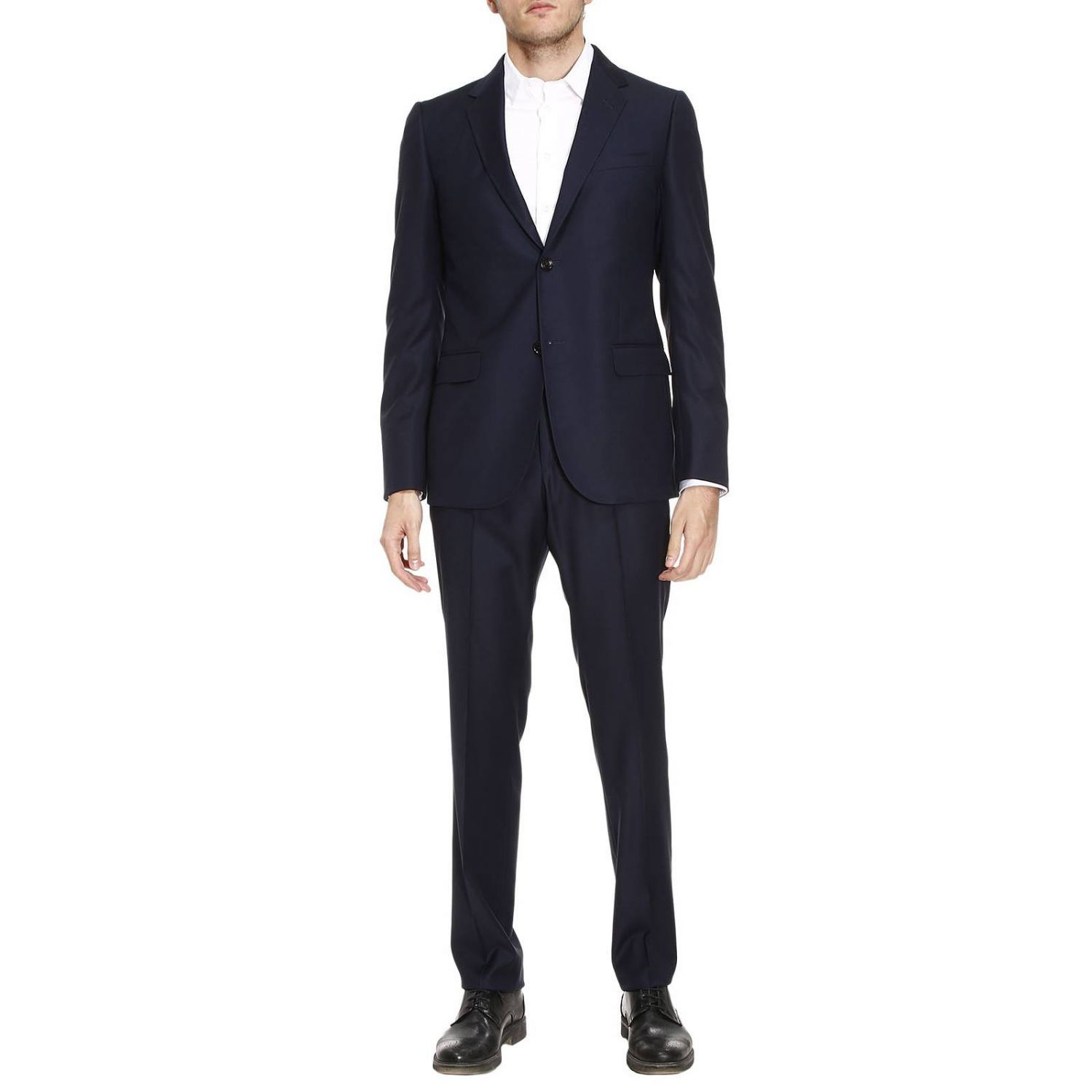 Suit Two-button Monaco Suit In Worsted Wool With 19 Bottom
