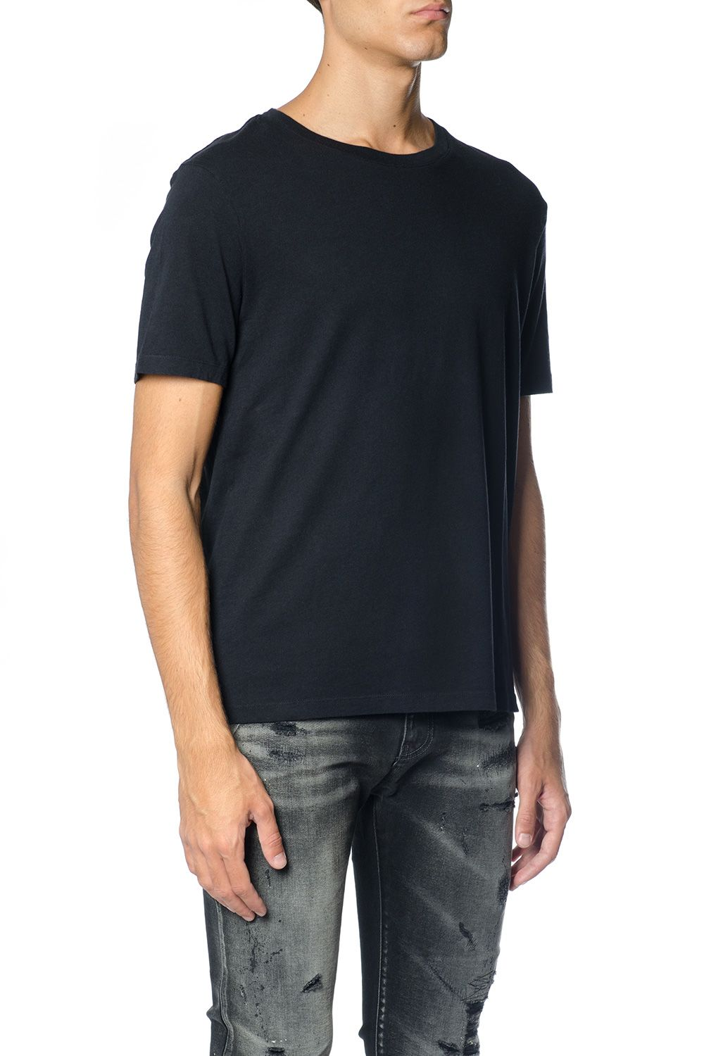 Faith Connexion Black Cotton Scoop Neck T-shirt