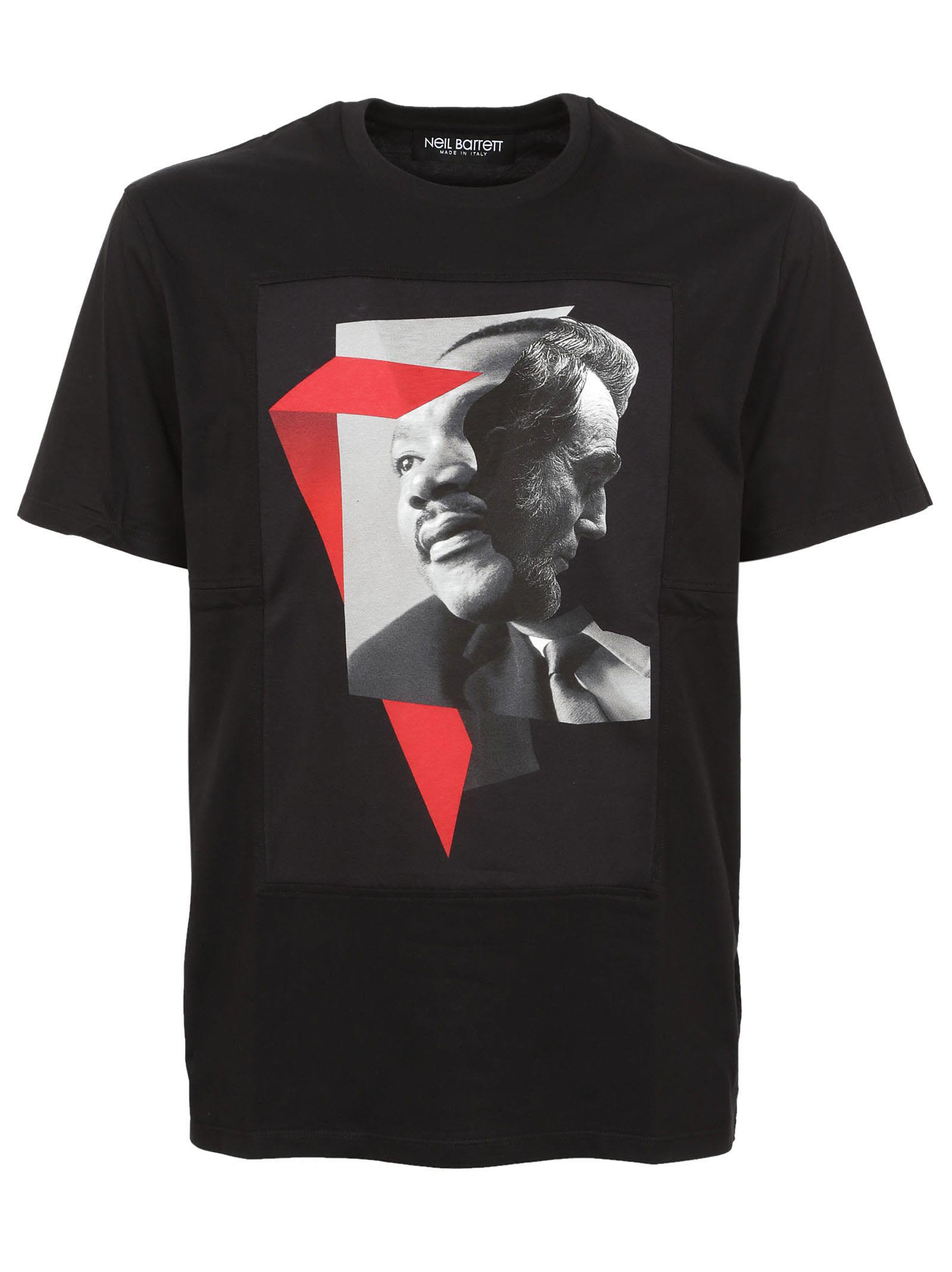Neil Barrett Martin Luther King Jr And Lincoln Graphic Print T-shirt