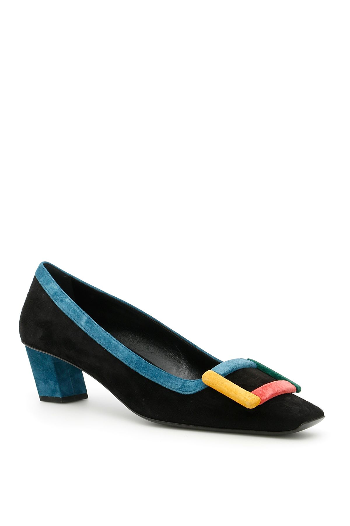 Belle Vivier Graphic Pumps
