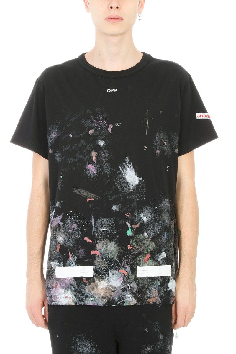 Off white off white diag galaxy multicolor cotton t for Galaxy white t shirts wholesale