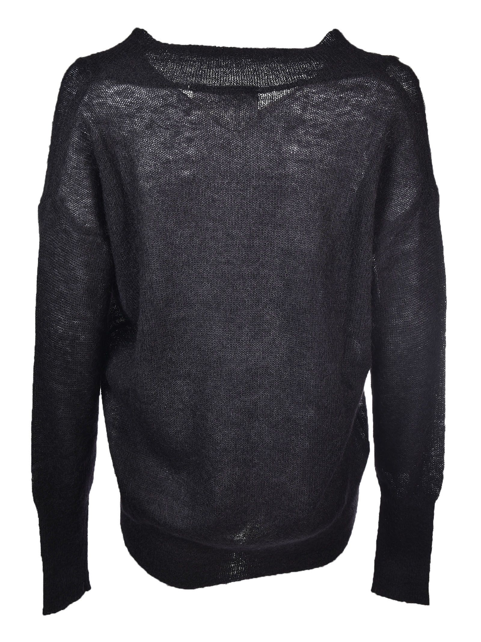 8PM - 8PM V-Neck Sweater - Black, Women's Sweaters | Italist