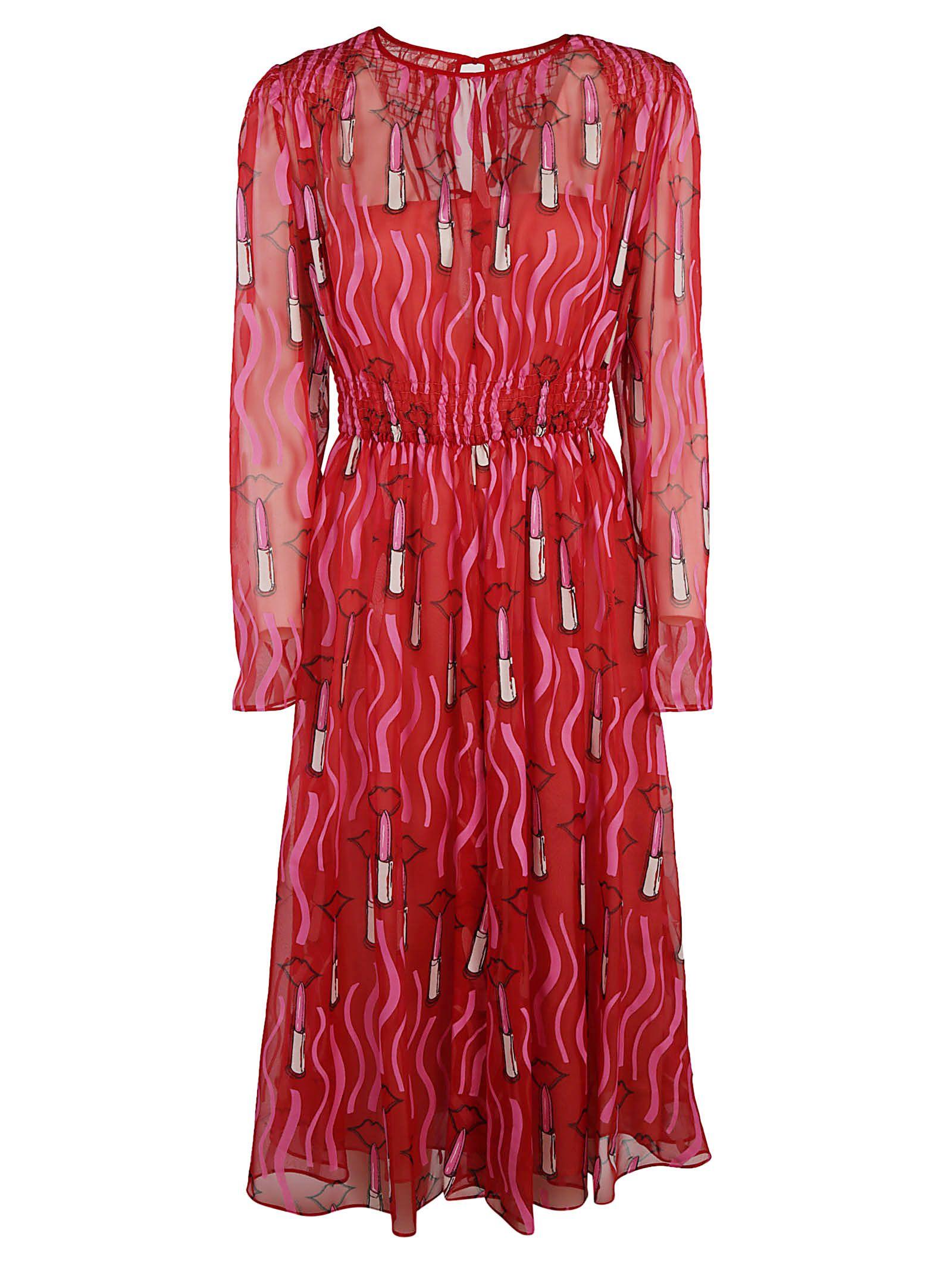 Valentino Lipstick Print Dress