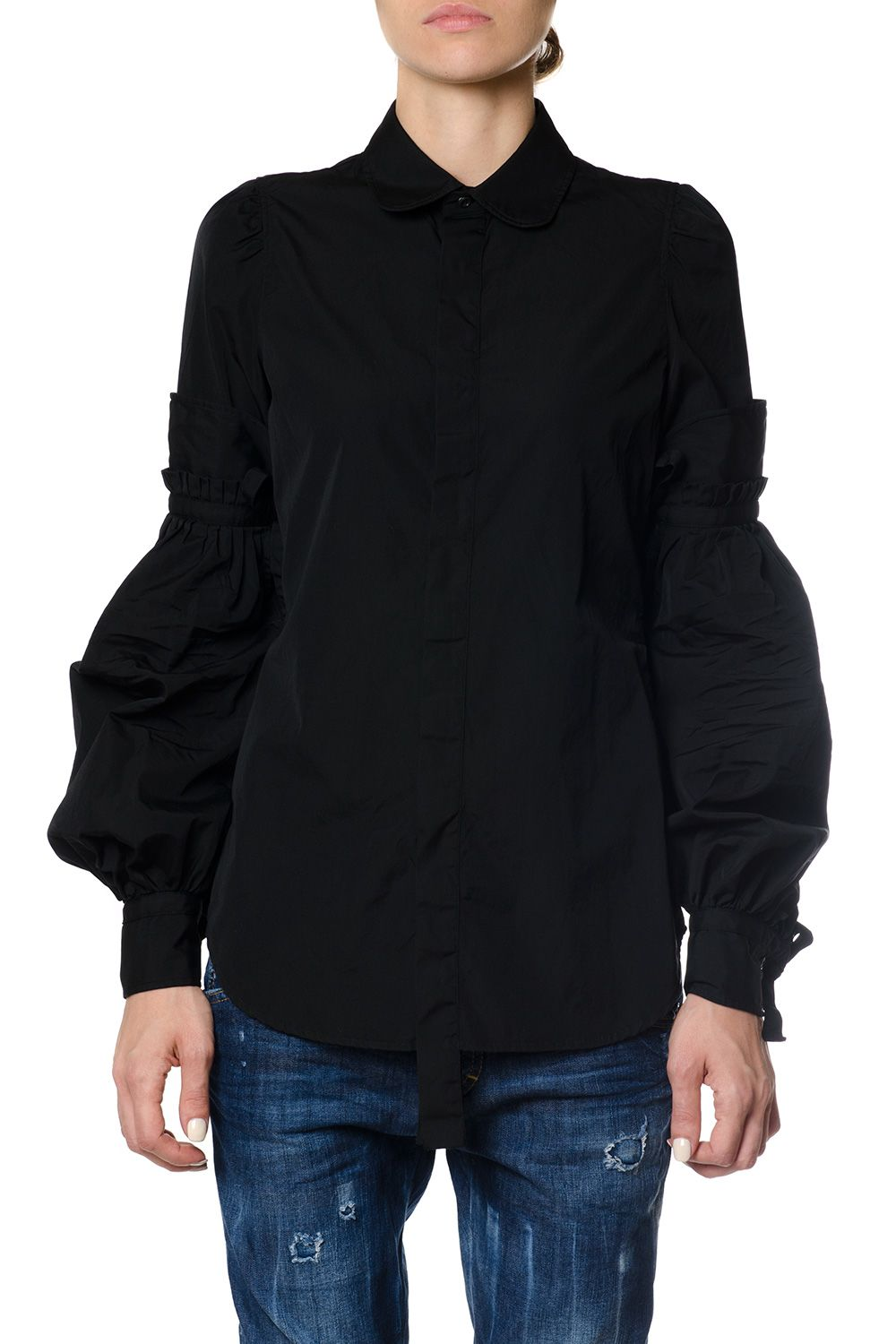 Dsquared2 Flared Sleeves Cotton Shirt