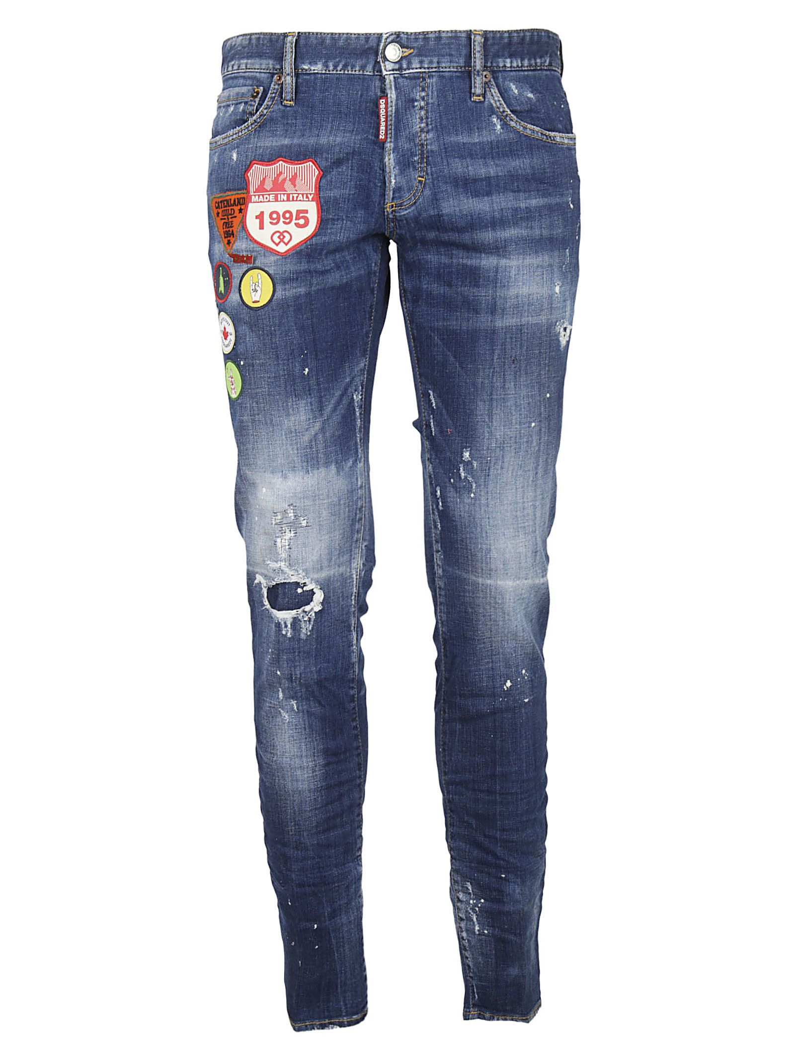 Dsquared2 Distressed Patched Jeans