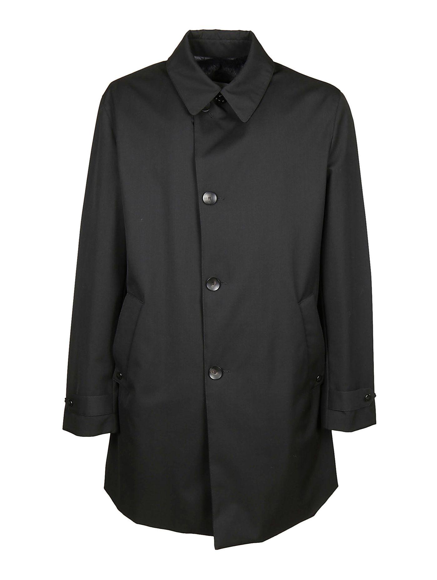 Button Fastening Raincoat