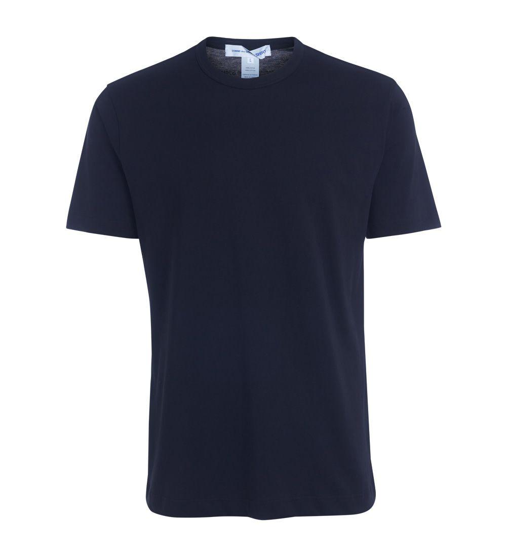 Comme Des Garçons Shirt Black T-shirt With Printed Logo