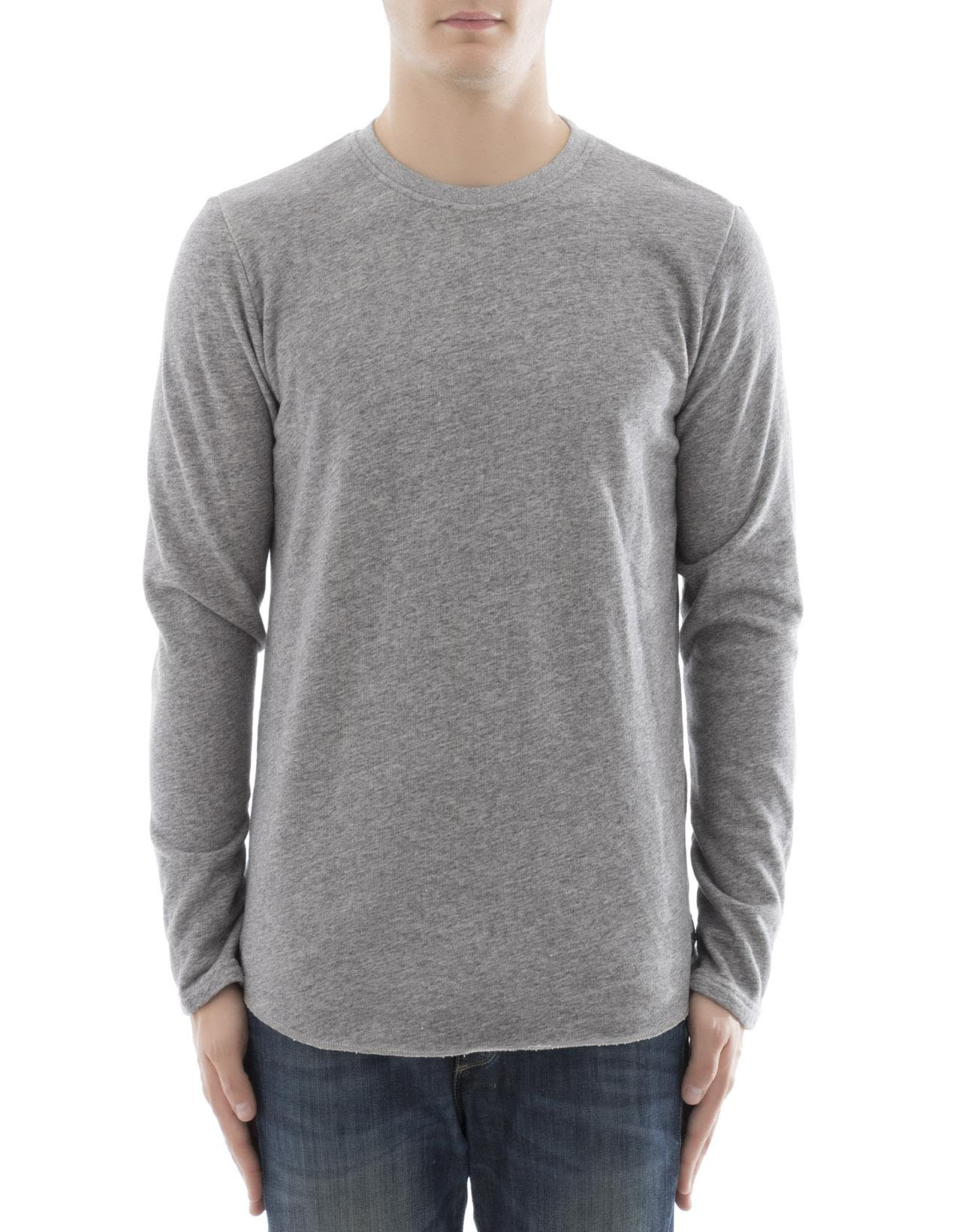 Edwin - Grey Cotton Sweater - Grey, Men's Sweaters | Italist
