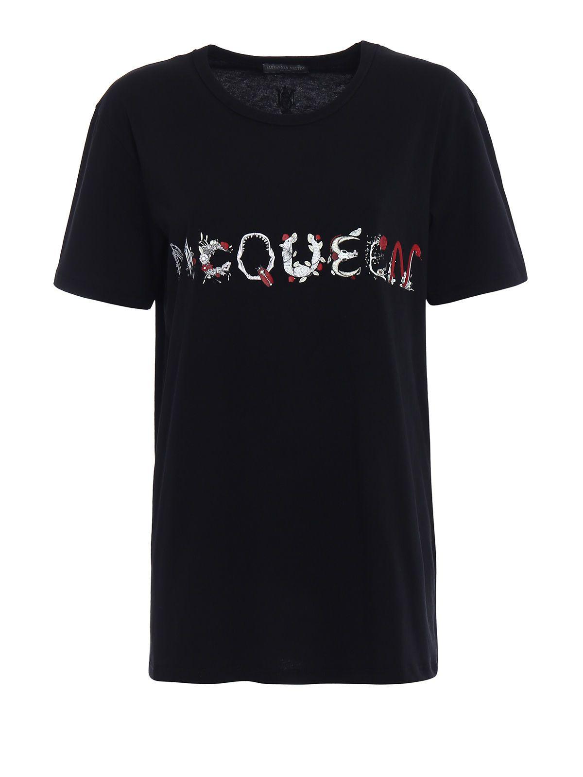 Alexander McQueen Let Print Over Tshirt