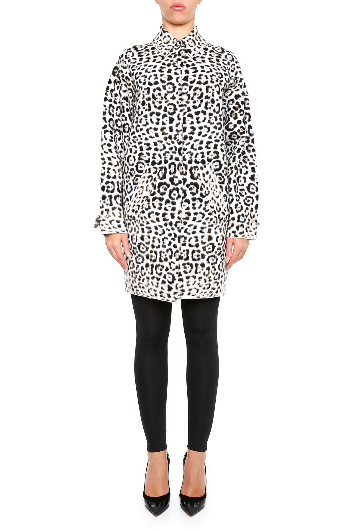 Jacquard Animal Print Coat