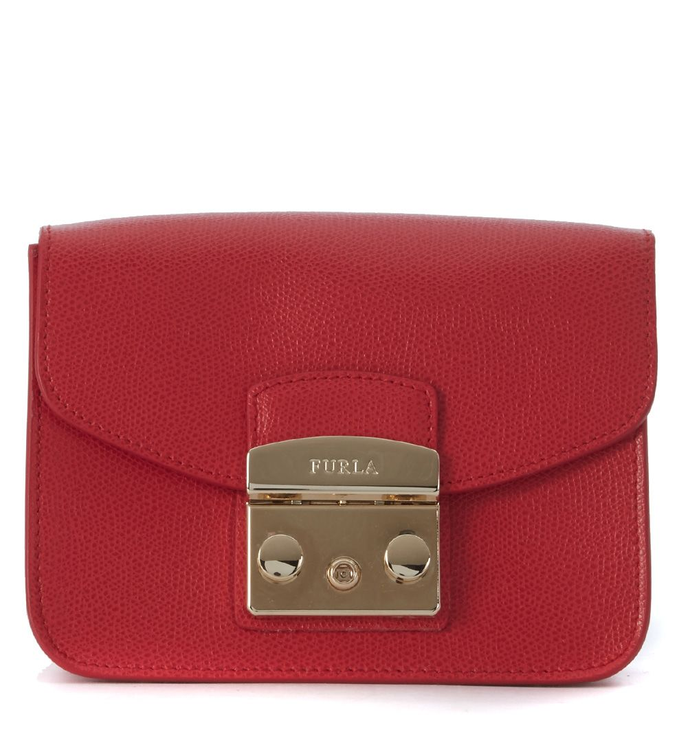 furla furla metropolis mini rubin red shoulder bag rosso women 39 s shoulder bags italist. Black Bedroom Furniture Sets. Home Design Ideas