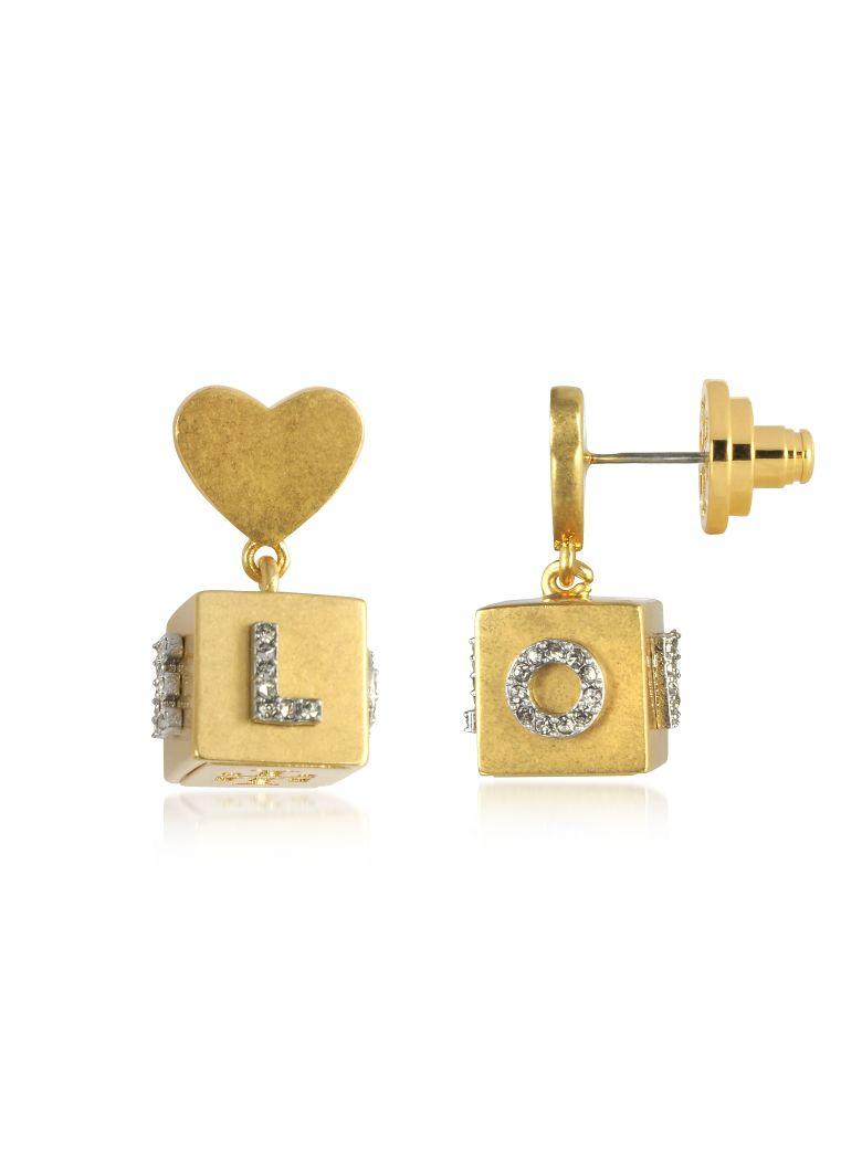 Tory Burch Earrings LOVE MESSAGE CUBE DROP EARRINGS