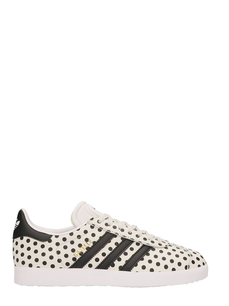 GAZELLE W IN BLACK AND WHITE SUEDE SNEAKERS
