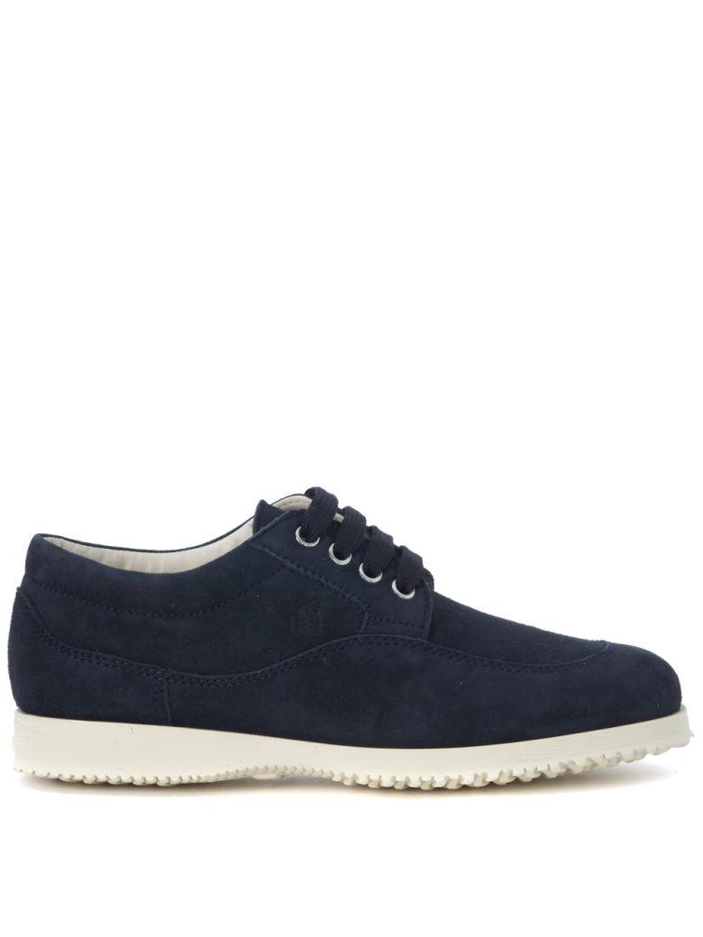 Sneaker Hogan Traditional in suede blu