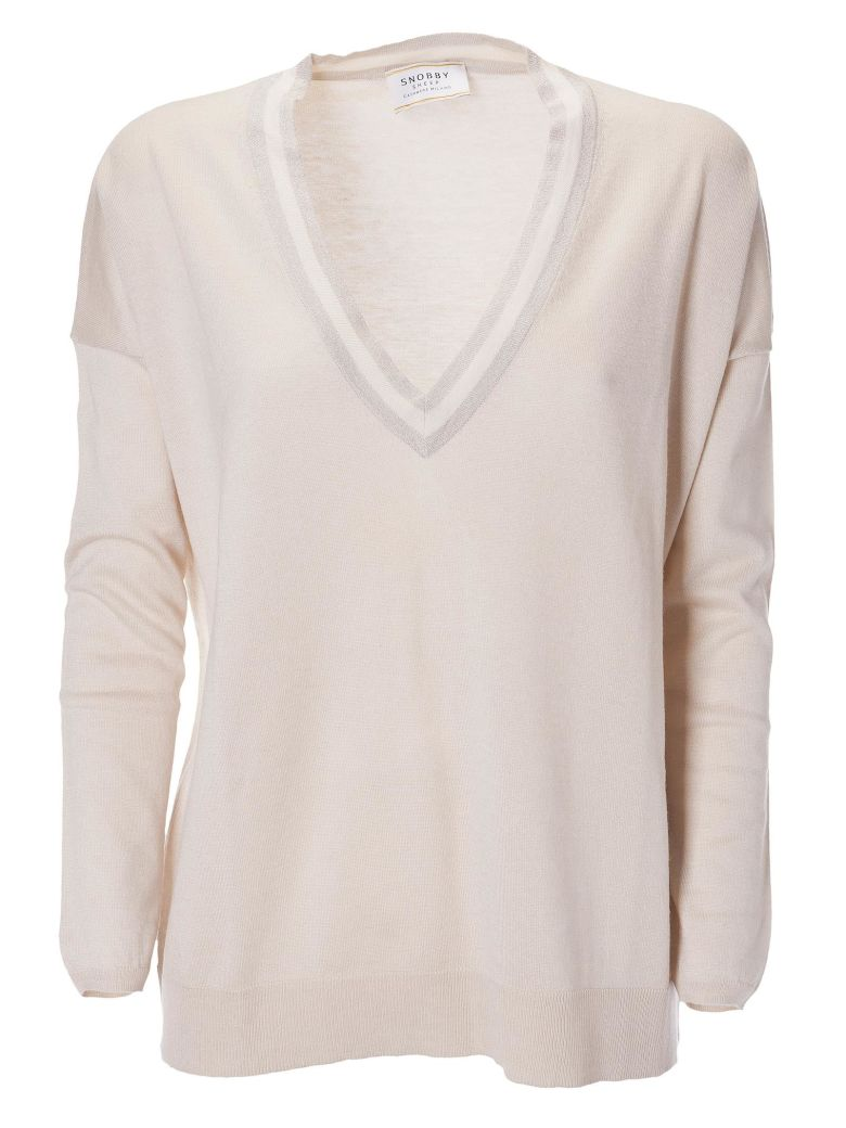 SNOBBY SHEEP DEEP V-NECK SWEATER