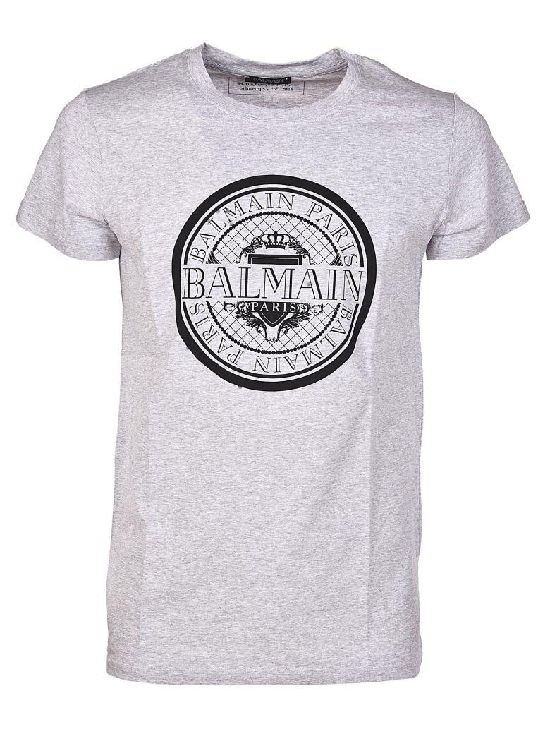 circle logo T-shirt - Grey Balmain Clearance View Classic Cheap Price O1909