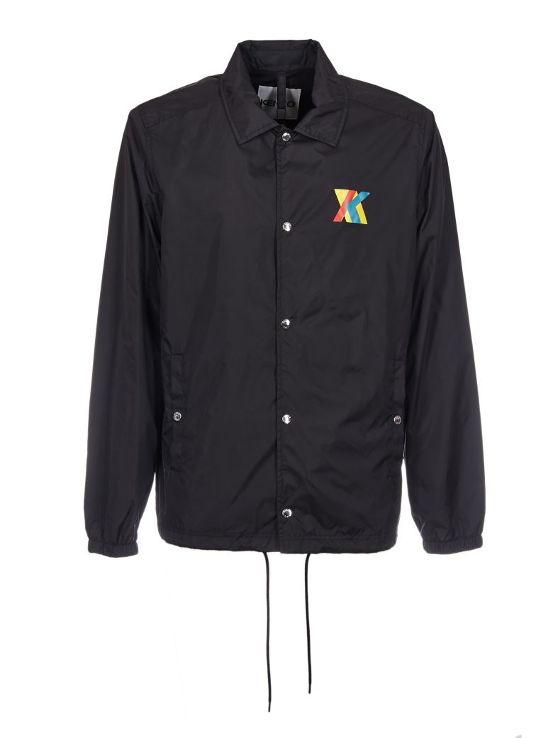 49ddf74fc Kenzo Hyper Black Nylon Coach Jacket   ModeSens