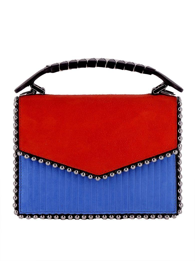 LES PETITS JOUEURS Colour Block Mini Tote Bag in Multicolour