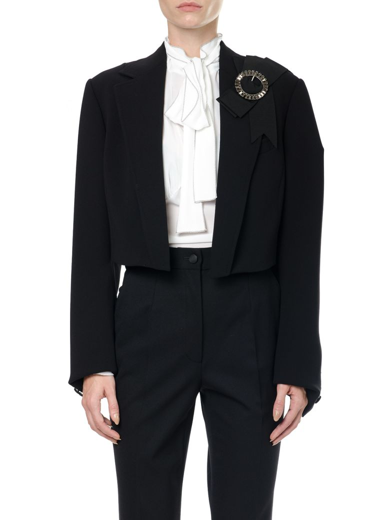 Dolce & Gabbana  WOOL JACKET WITH JEWEL BUCKLE