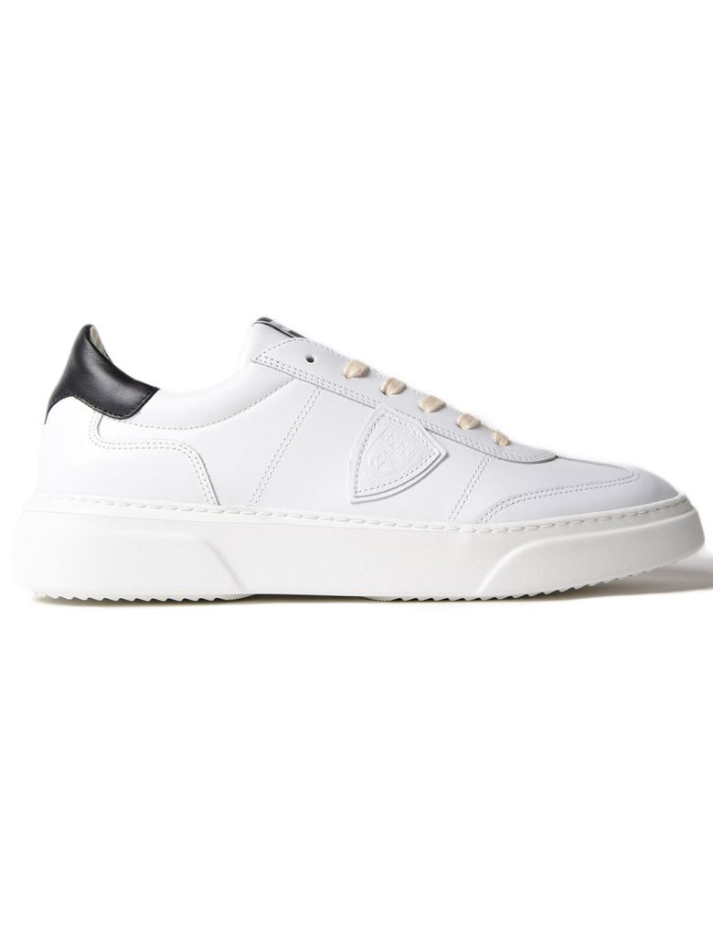 PHILIPPE MODEL Temple Black And White Leather Sneaker