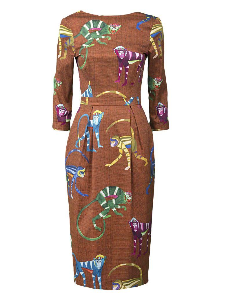 MONKEY PRINTED DRESS