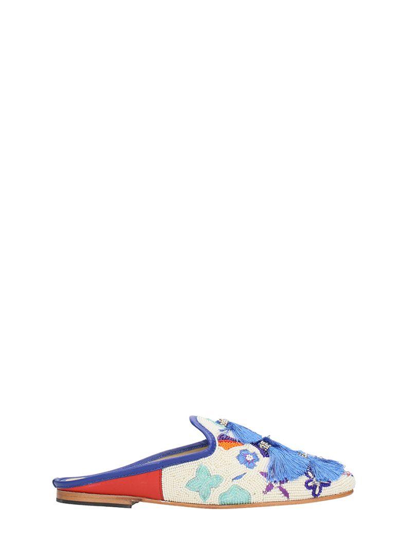 CORAL BLUE TECNICAL FABRIC WHITE BLUE SABOT