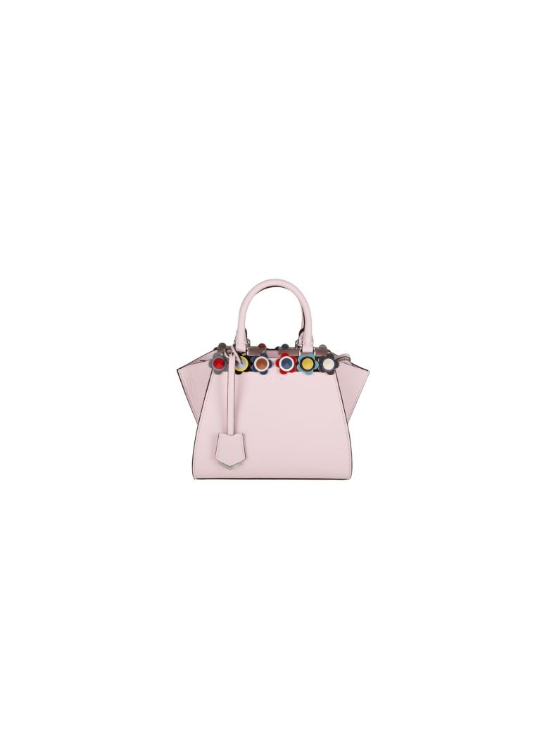 BAG 3JOURS MINI LEATHER PINK STUD IN PLEXI