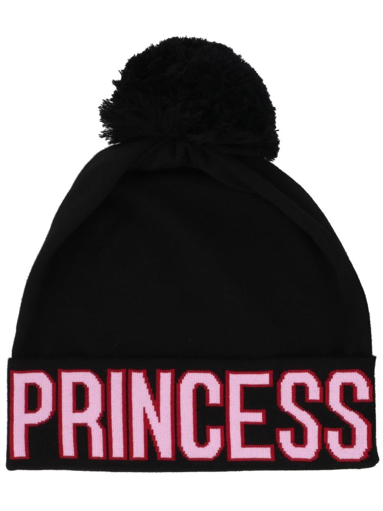 Dolce And Gabbana Black Logo Princess Beanie