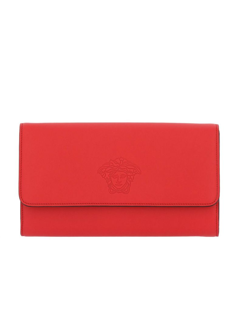embossed Medusa clutch - Red Versace Free Shipping Pick A Best Free Shipping 2018 Newest Find Great Online For Cheap j3rXuyVh