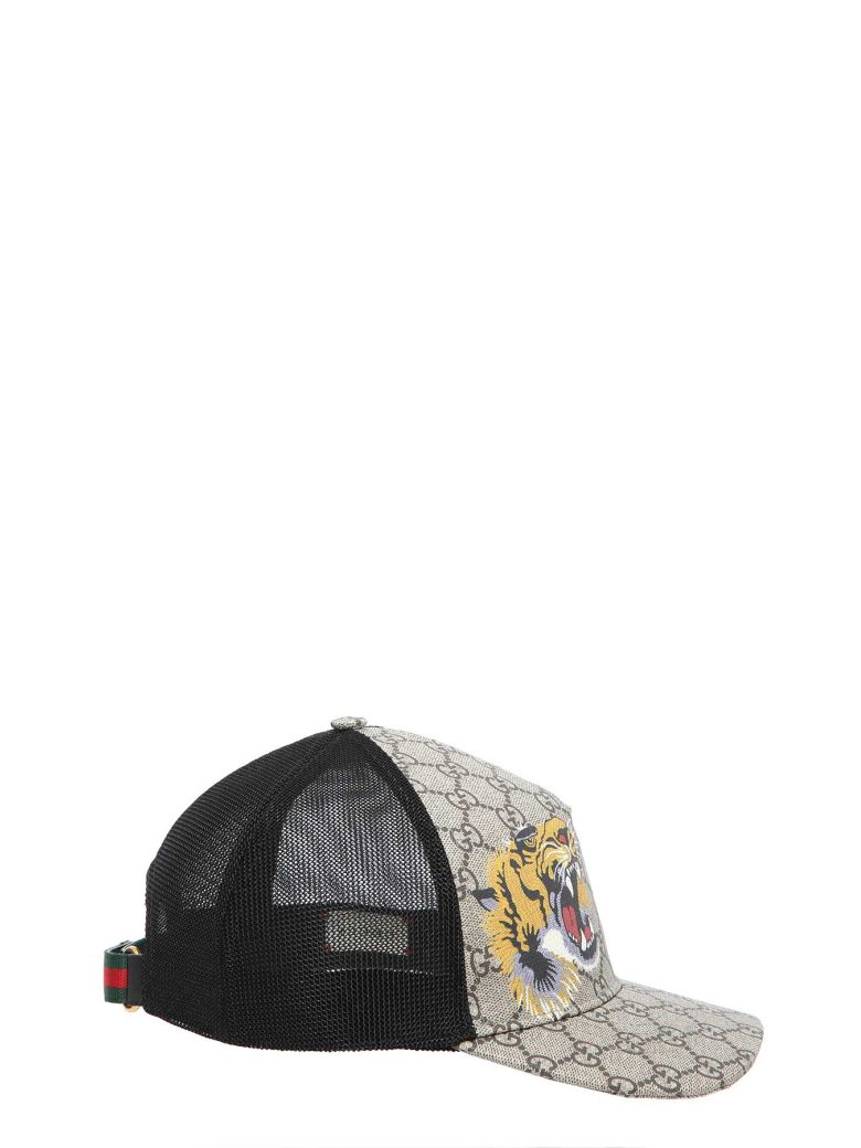 Gucci Tigers Print Gg Supreme Baseball Hat In Marrone Nero bd7d459fbcd