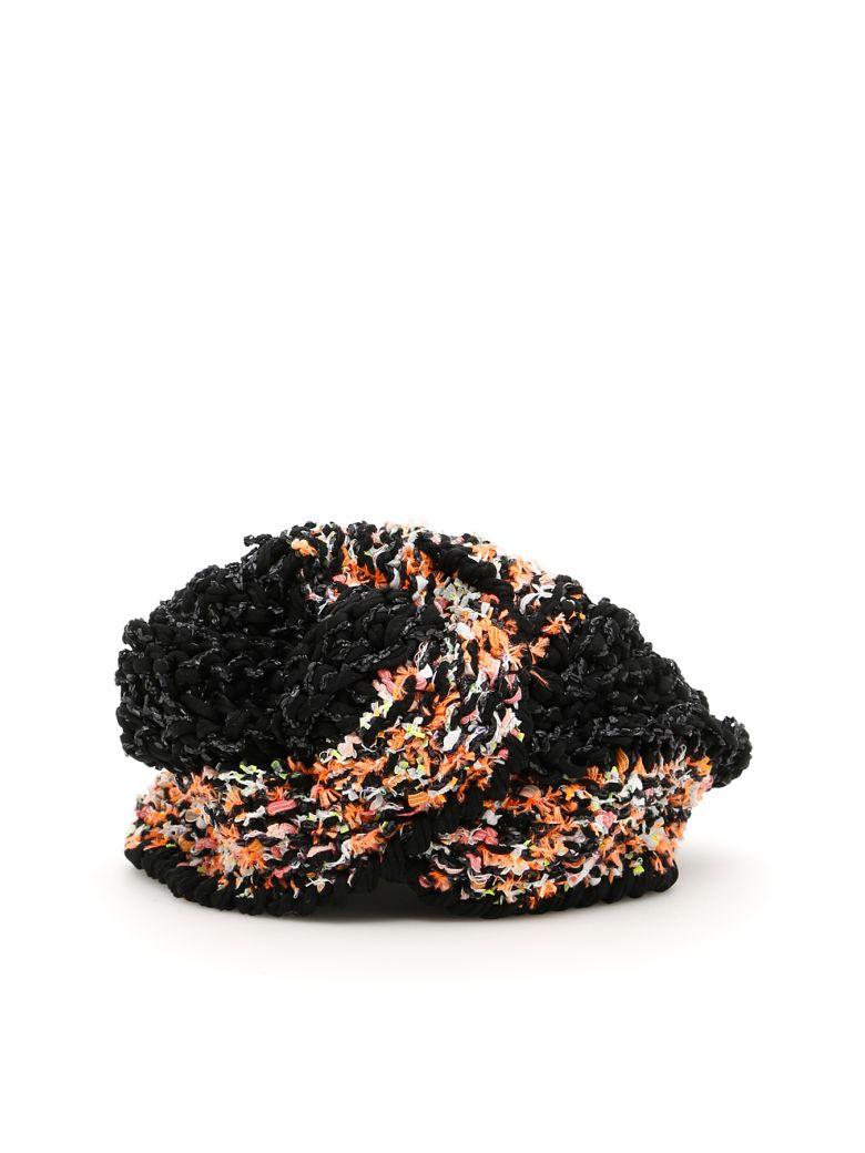 FLAPPER Vega Turban in Black Orange