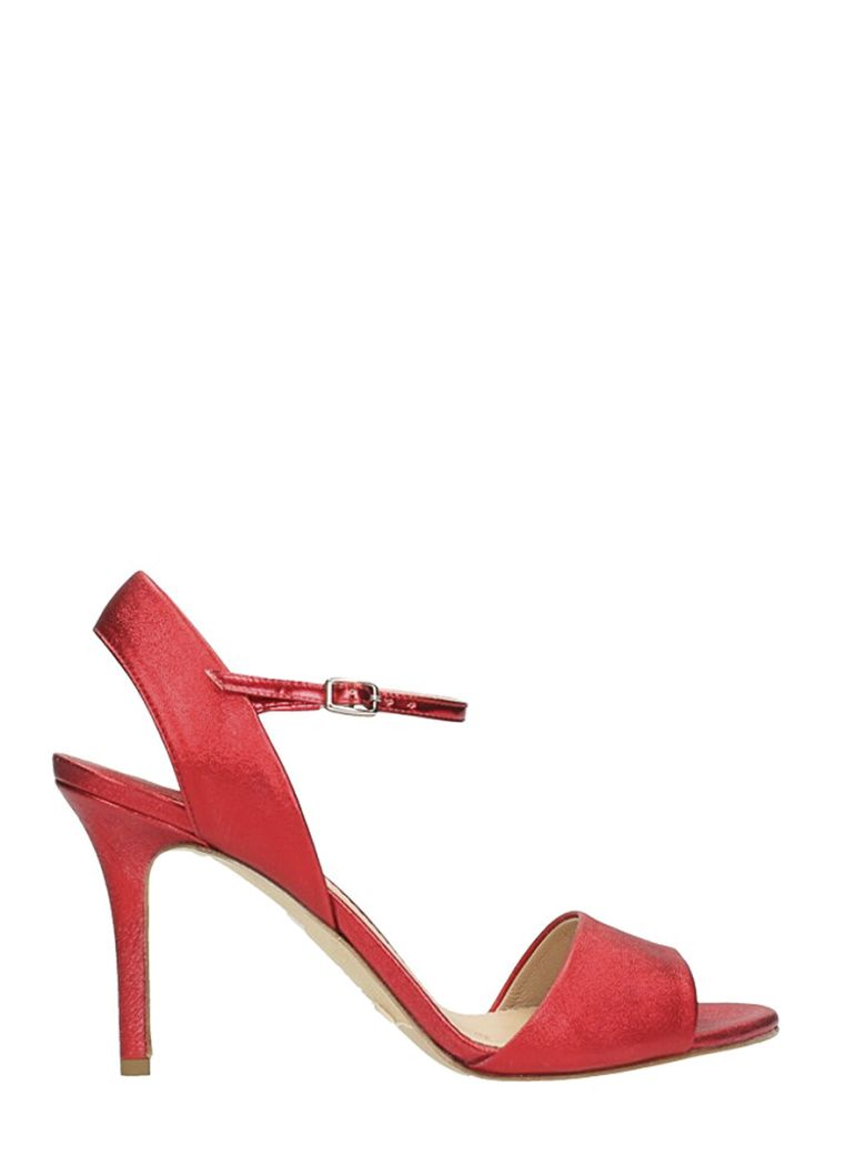THE SELLER RED LEATHER SANDALS
