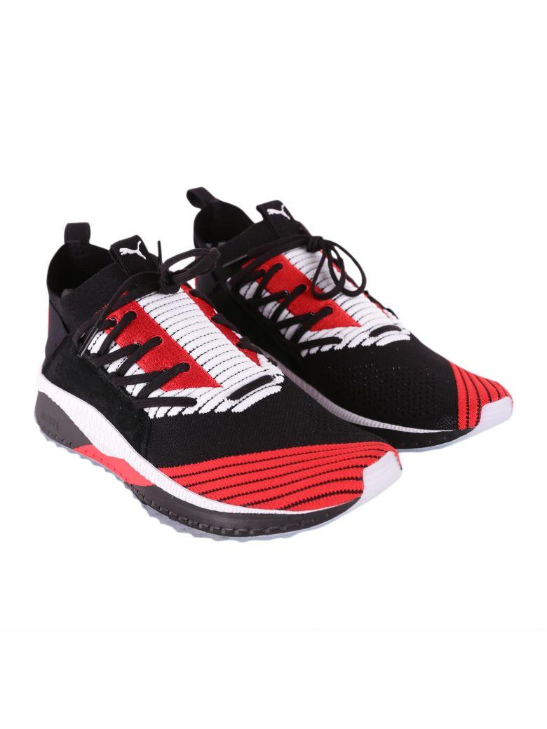 39c31f047ad9 Puma Tsugi Jun Cubism Sneakers In Black - White - Red