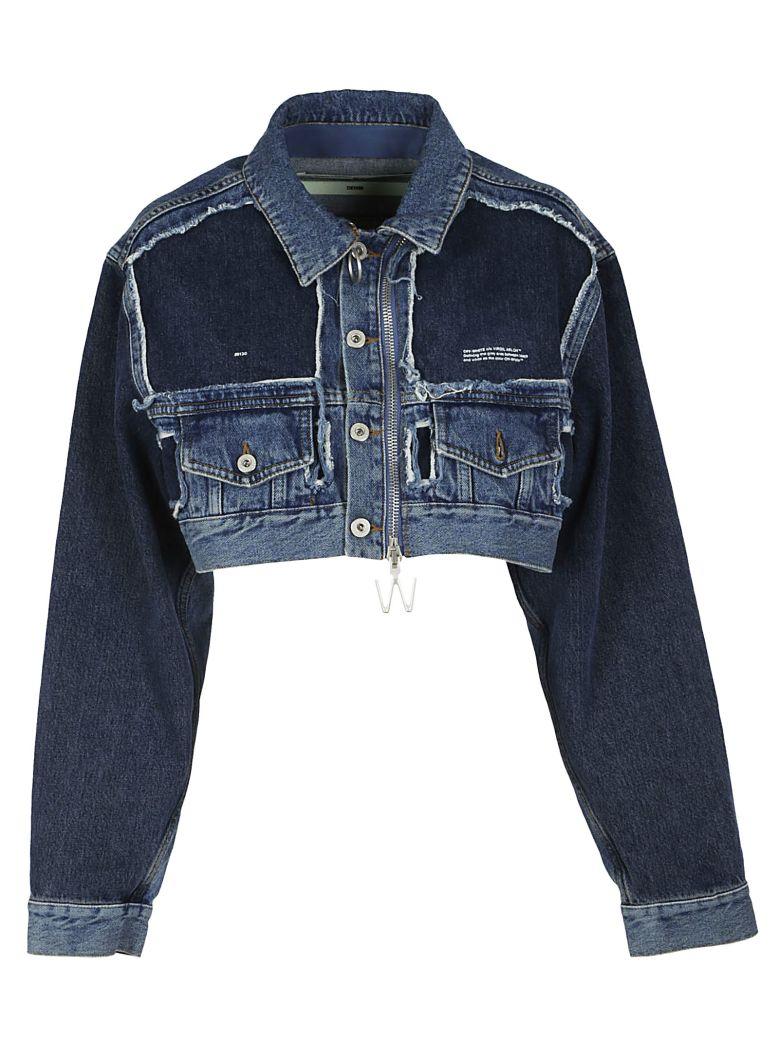 Off-White Short Denim Jacket In Vintage Wash  fa8010cb6ae6