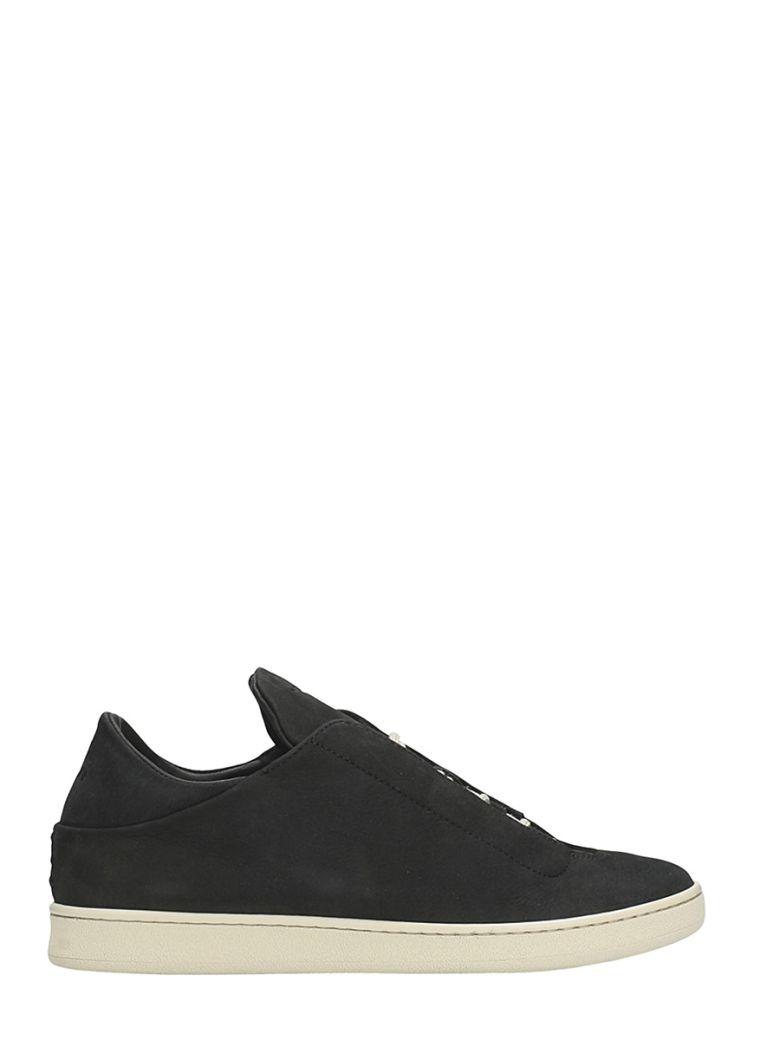 YLATI FOOTWEAR VIRGILIO LOW BLACK SUEDE SNEAKERS