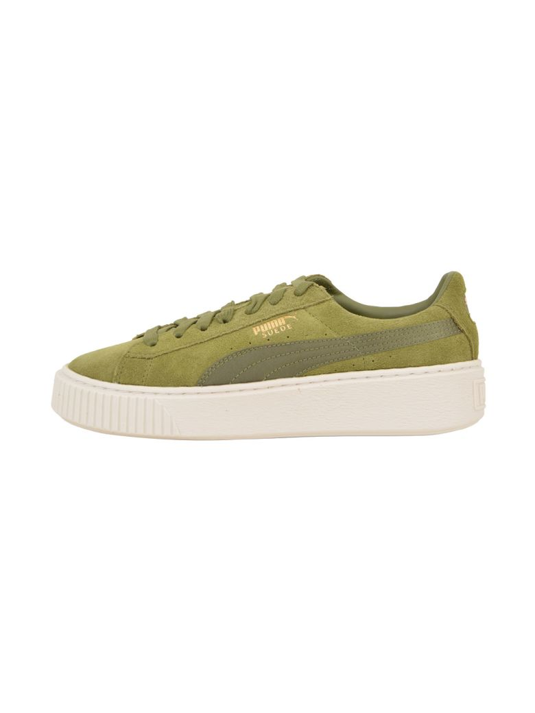 Puma Green Creeper Sneaker In Army  2e83d8b39