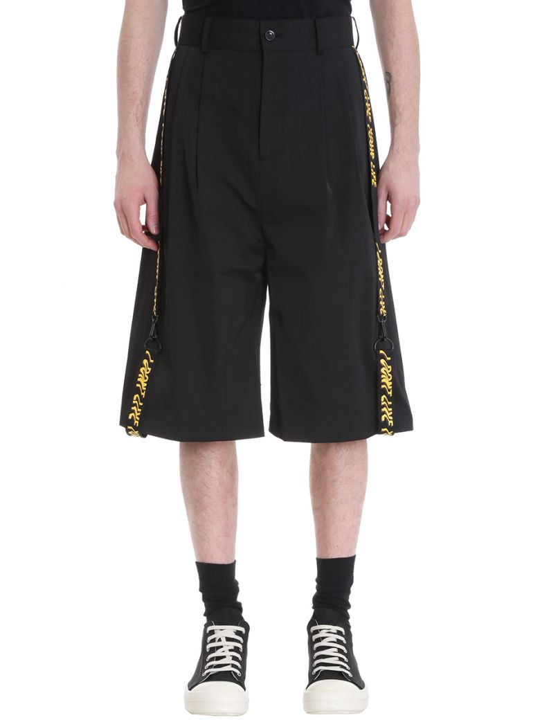 D BY D BLACK TECHNICAL FABRIC SHORTS