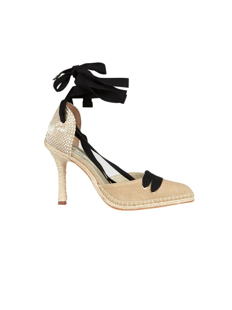 CASTAÑER BY MANOLO BLAHNIK Castaner High Heel Sandals in Beige
