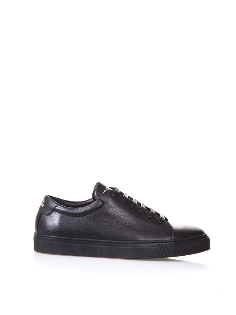 NATIONAL STANDARD EDITION 3 FUSALP BLACK LEATHER SNEAKERS