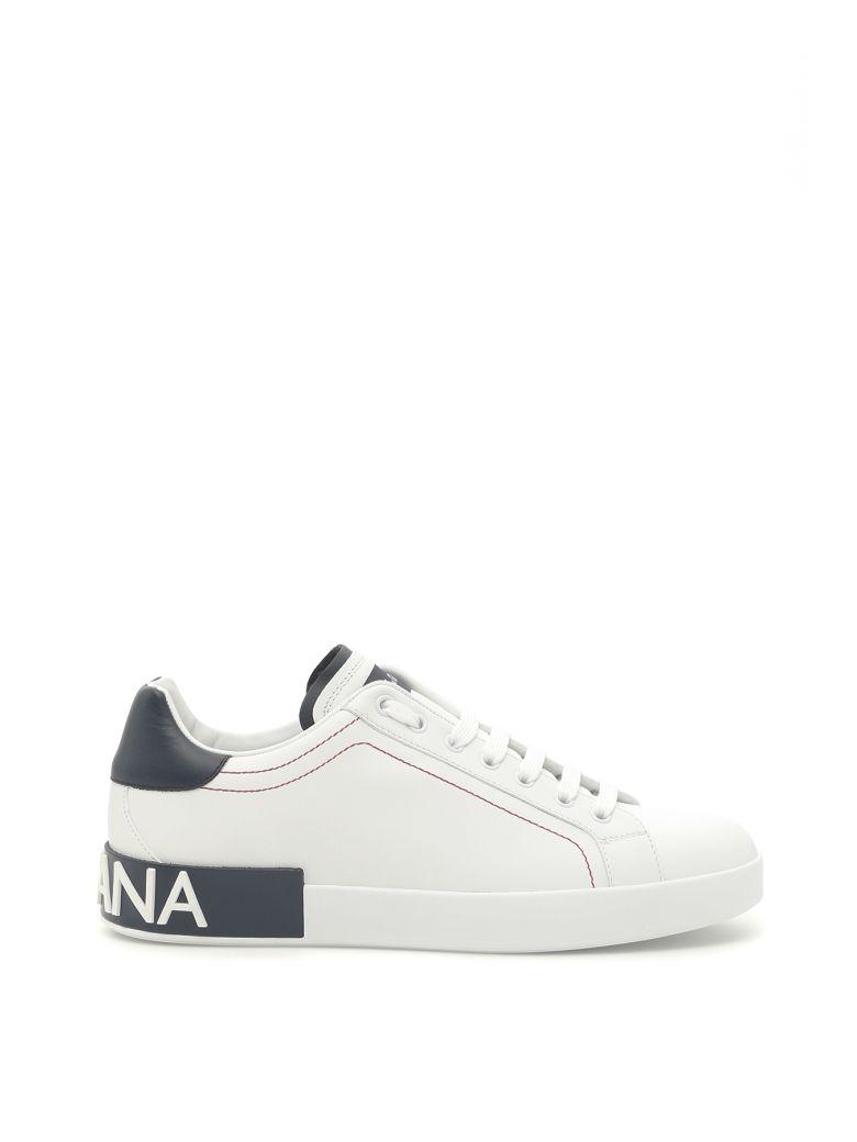 DOLCE & GABBANA Portofino Sneakers, Bianco-Blueberrybianco